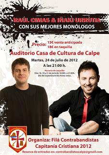 Raúl Cimas y Iñaki Urrutia – Comedia el 24.Julio 2012 en Calpe, Mario Schumacher Blog