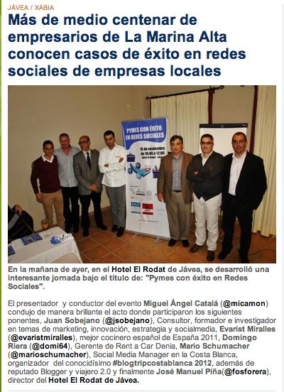 Prensa, Mario Schumacher Blog