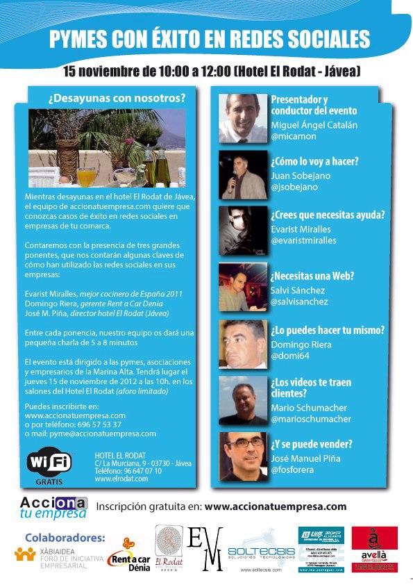 Nuevo proyecto 2.0 para PYMES en la Marina Alta www.accionatuempresa.com, Mario Schumacher Blog