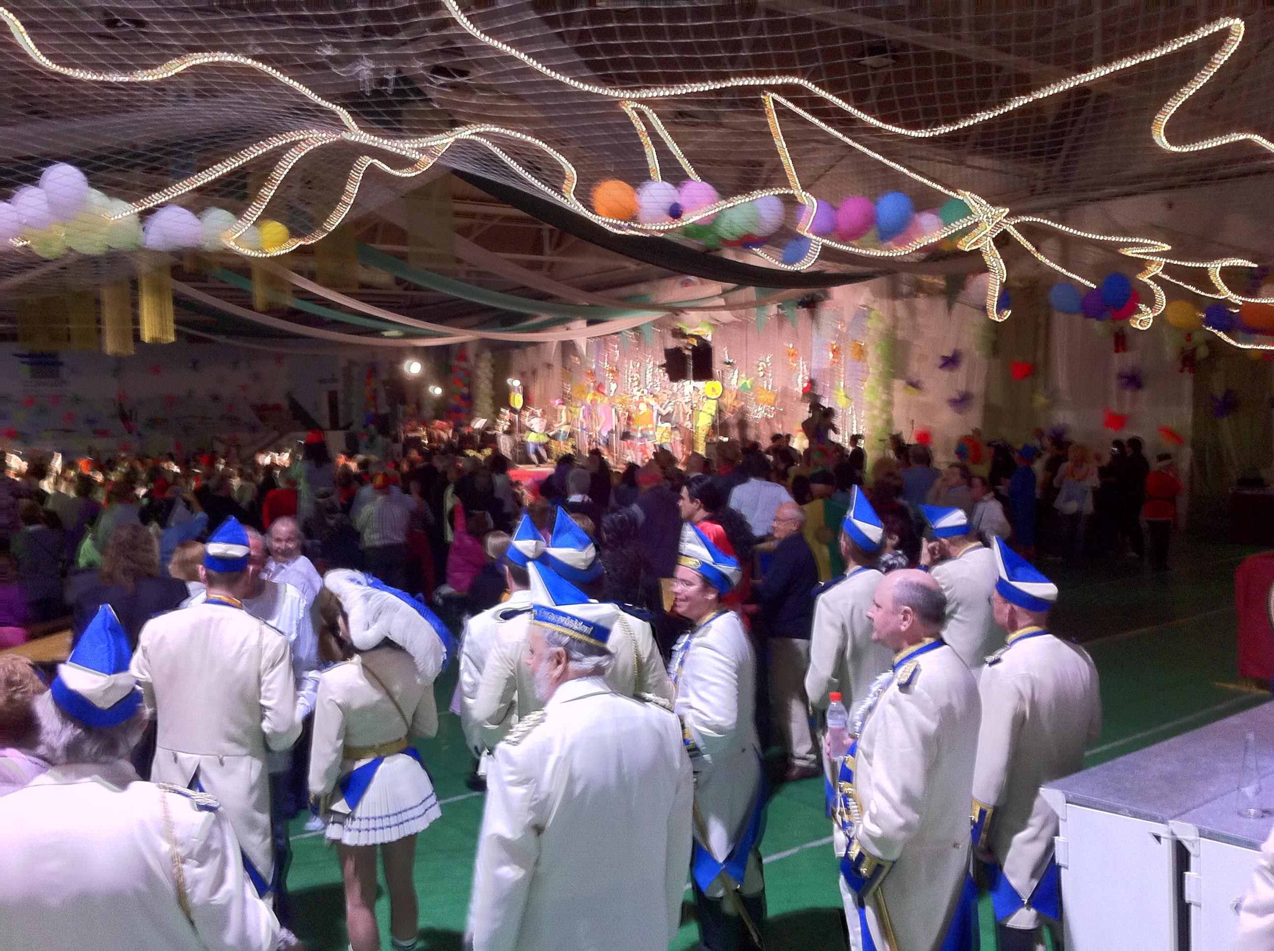Wiesser Funken in der Calper Sporthalle zu Karneval