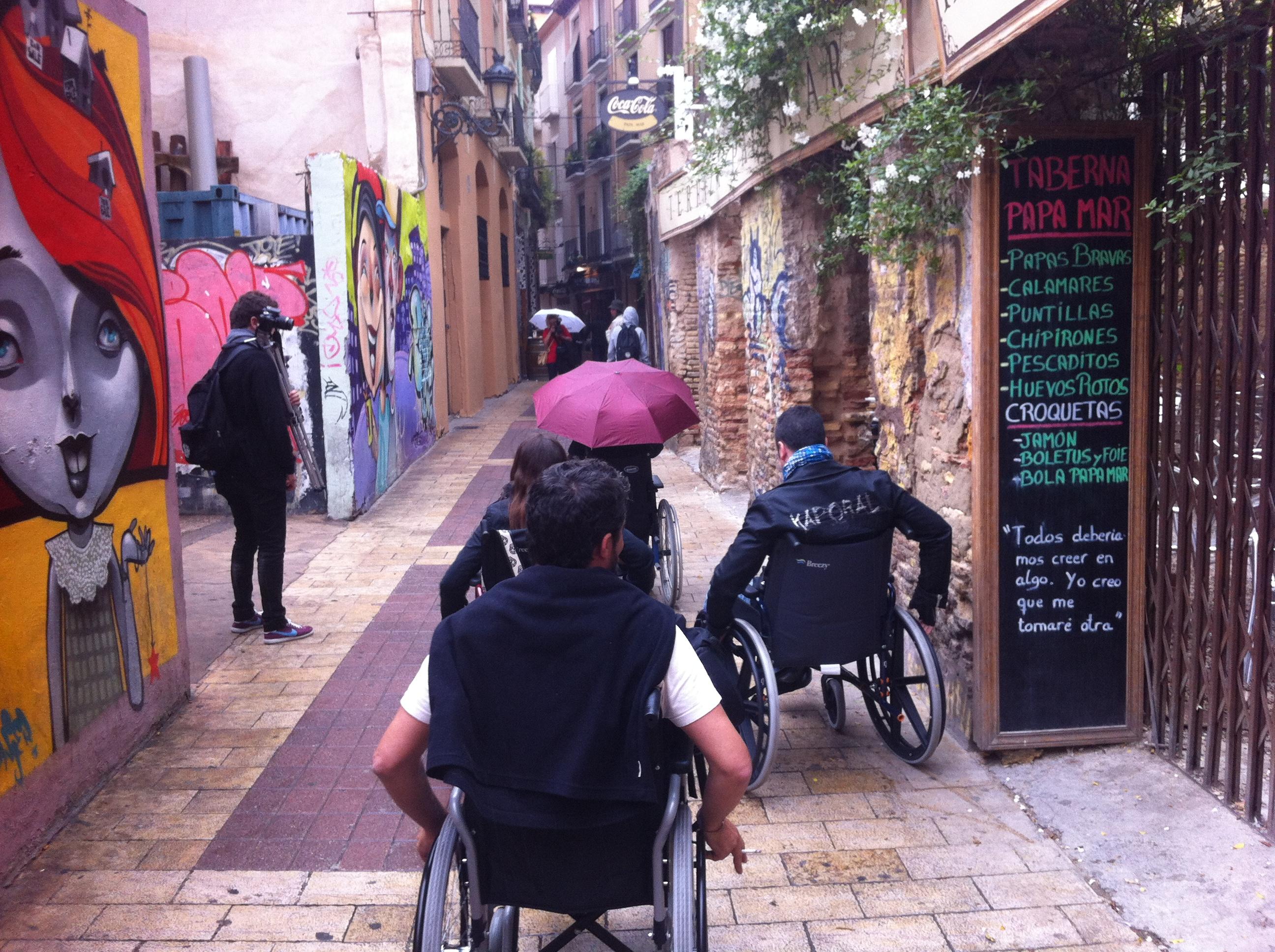 Im Rollstuhl durch Zaragoza #RegalaZaragoza