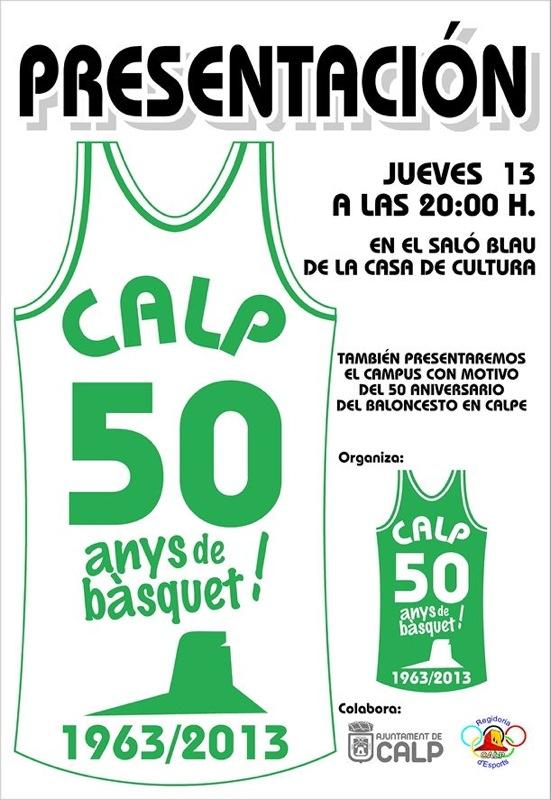 50 años de Baloncesto en Calpe – Presentación 13.Junio, Mario Schumacher Blog