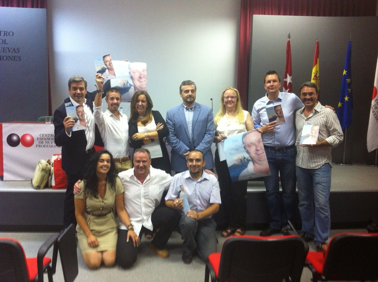 Amigos en un viaje a las emociones en el CENP de Madrid #libroblogtrip