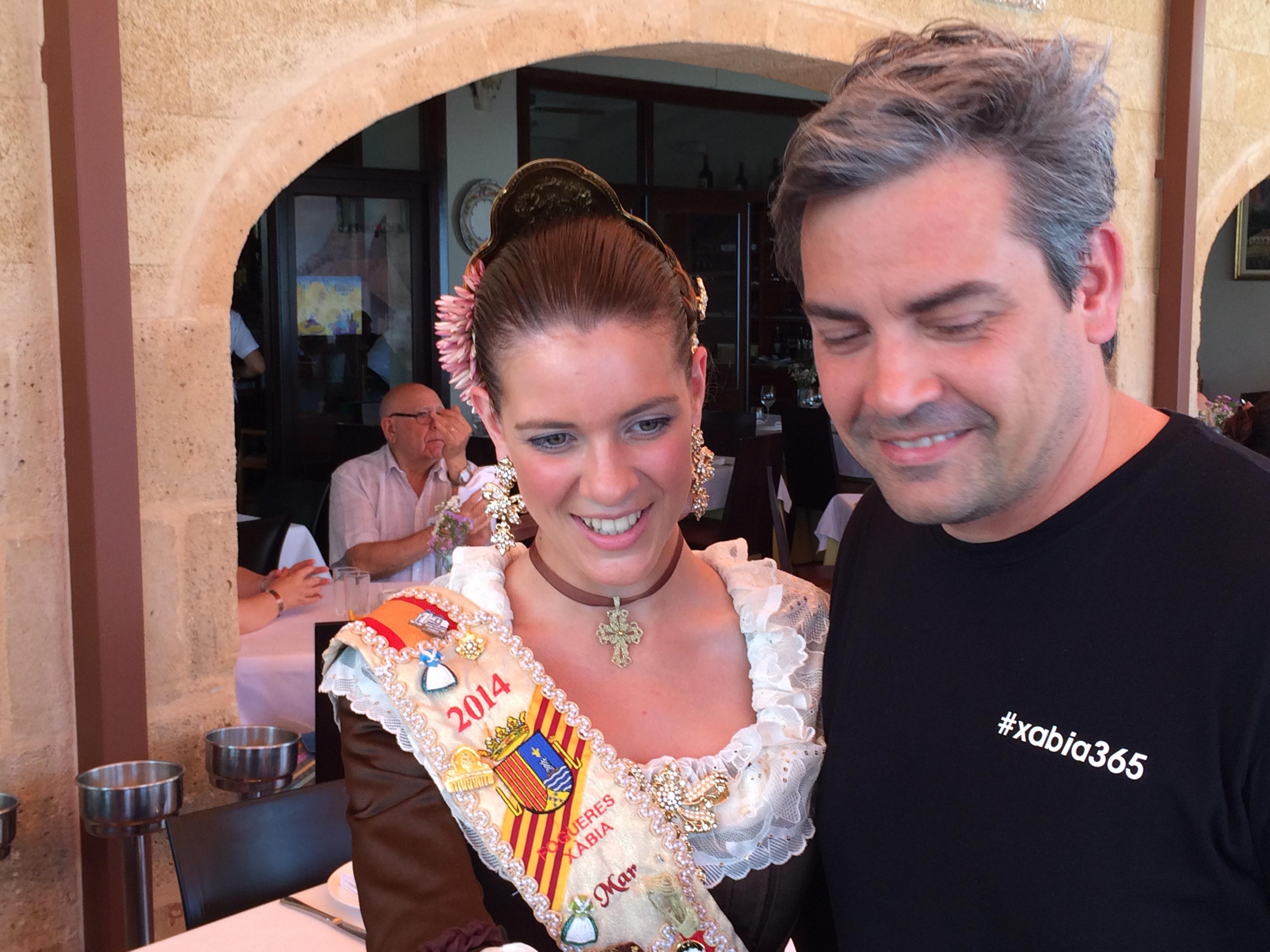 Álvaro Santos y la reina de San Juan de Jávea/Xàbia 2014