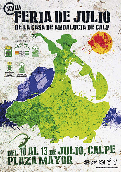 XVIII Feria de Julio de la Casa Andalucía de Calpe, del 10 al 13 de Julio 2014, Mario Schumacher Blog