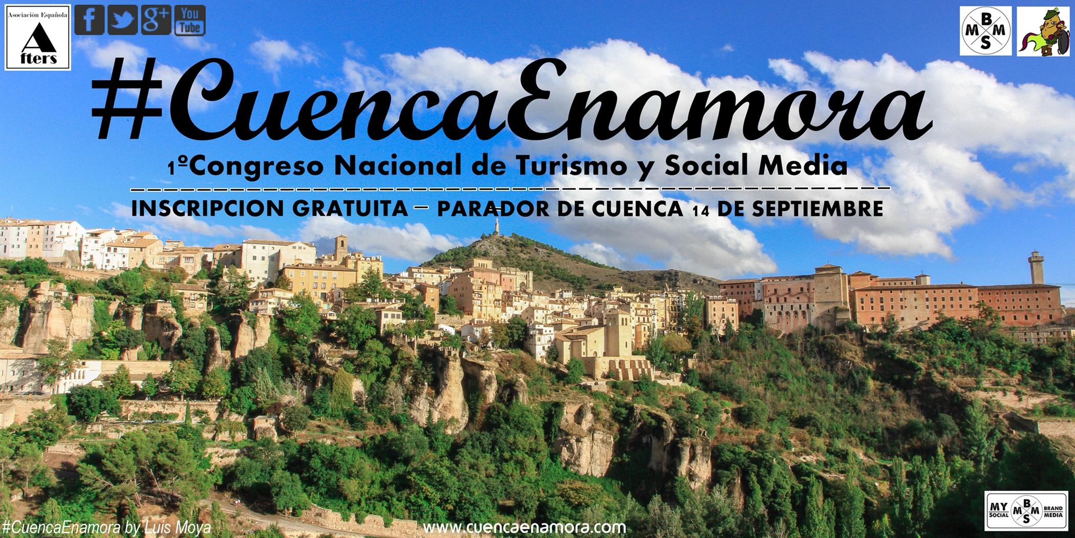 1º Congreso Nacional de Turismo y Social Media #CuencaEnamora el 14 de Septiembre, a las 11 h. en el Parador de Cuenca.