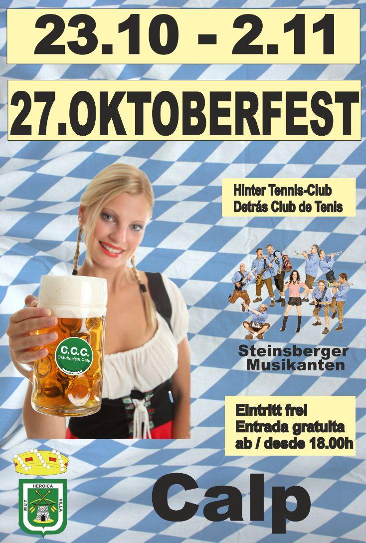 Oktoberfest Calpe / Fiesta de la Cerveza #Calpe  23.10. – 02.11.2014 (Costa Blanca), Mario Schumacher Blog