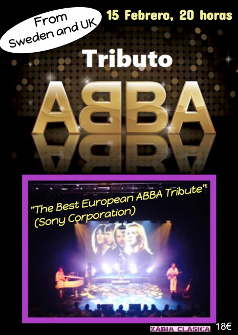 Tributo a ABBA el 15.Febrero en el Parador de Jávea (Costa Blanca), Mario Schumacher Blog