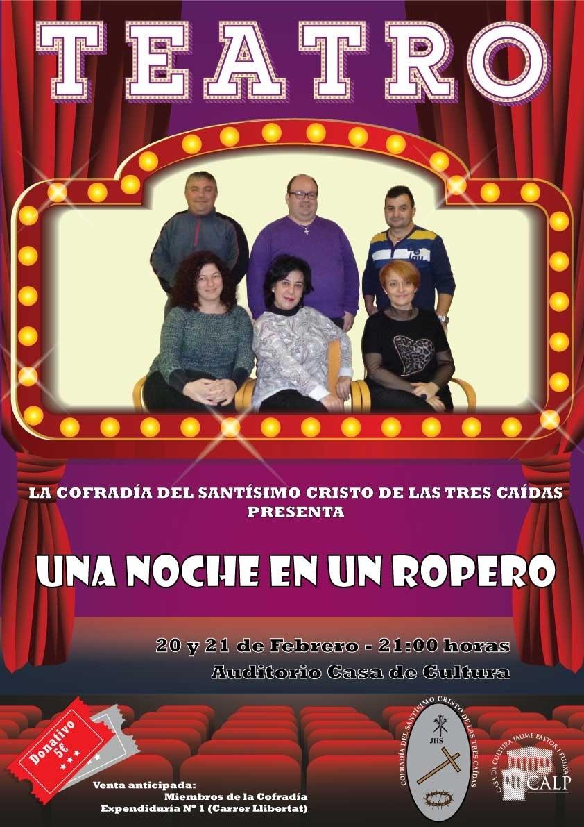 """Comedía """"Una noche en un ropero"""" el 20 y 21 de Febrero en Calpe (Costa Blanca), Mario Schumacher Blog"""