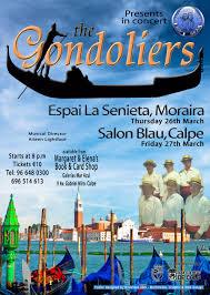 """The Gondoliers"" 26 y 27.Marzo en Moraira y Calpe – Calpe Gilbert and Sullivan Society, Mario Schumacher Blog"