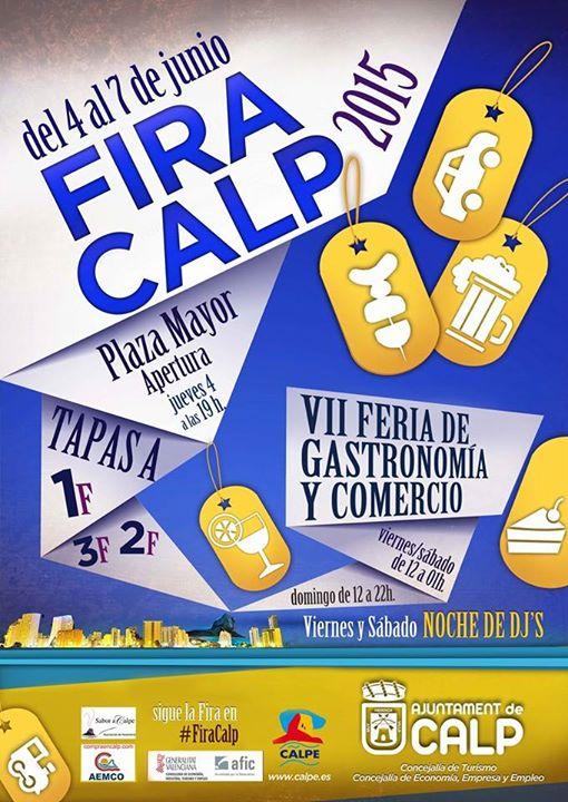 VII Feria de Gastronomía y Comercio FIRACALP: 4 al 7 Junio 2015 – Calpe, Mario Schumacher Blog