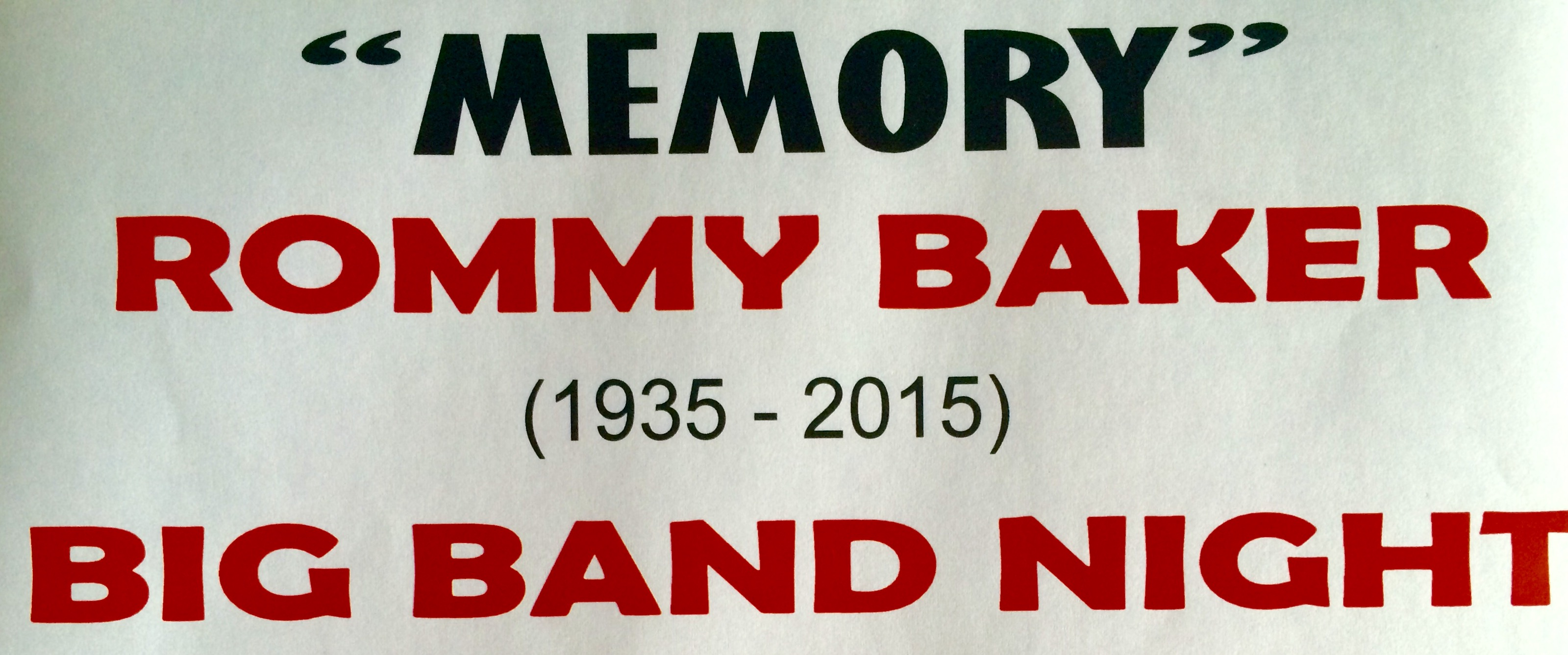 Memory Rommy Baker - Big Band Night