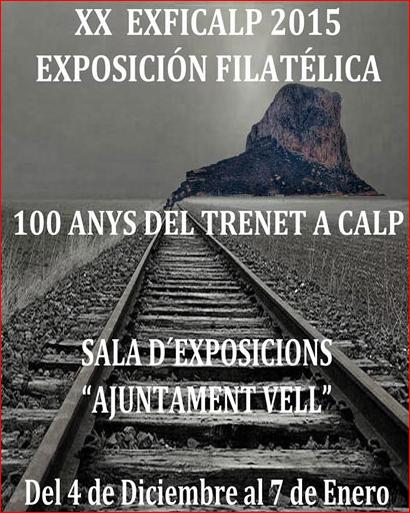 """Exposición filatélica XX EXFICALP 2015 y """"100 anys del Trenet a Calp"""", Mario Schumacher Blog"""