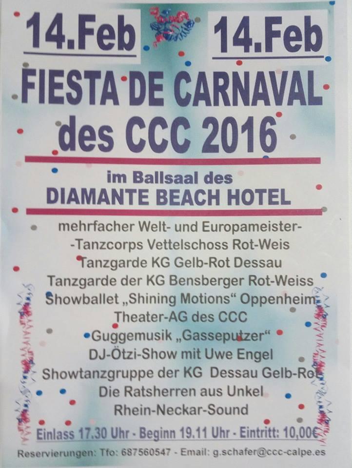 "Karnevalsfest des CCC am 14.Februar 2016 in Calpe (Spanien) – Fiesta de Carnaval del ""Creativ Club Calpe"", Mario Schumacher Blog"