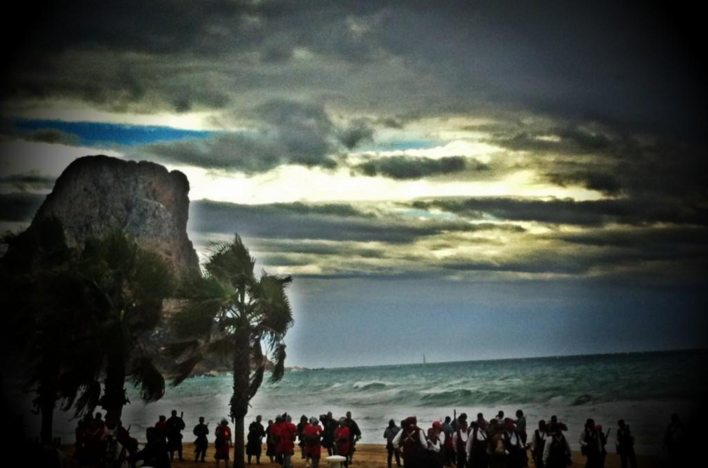 Fiestas de Moros y Cristianos - Desembarco en la playa de Calpe