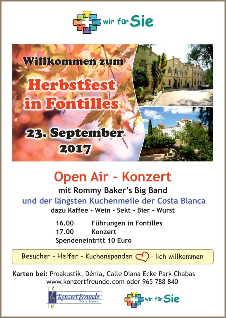 """Open Air-Konzert am 23.September mit """"Rommy Baker´s Big Band"""" in Fontilles, Mario Schumacher Blog"""
