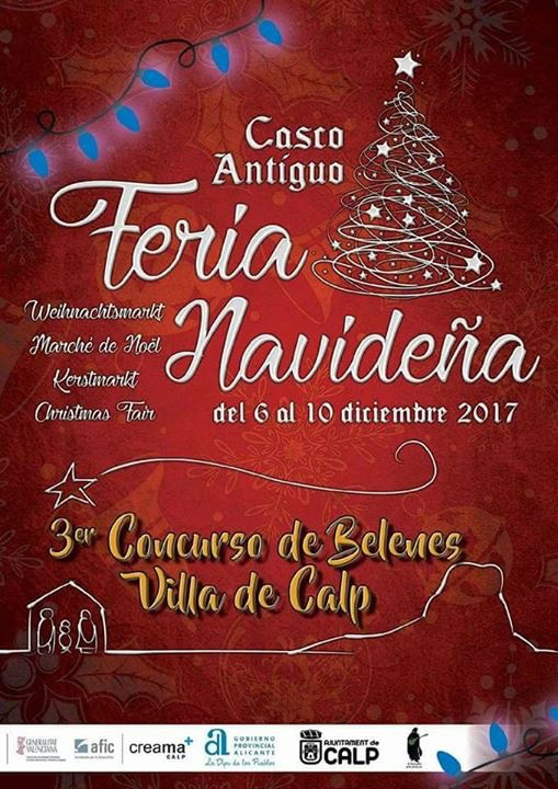 Feria Navideña (Weihnachtsmarkt).  06.-10.Diciembre 2017 en Calpe, Mario Schumacher Blog